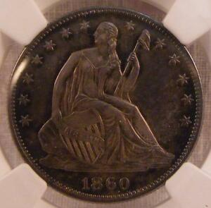 Click now to see the BUY IT NOW Price! 1860 50C SEATED LIBERTY 1/2 DOLLAR COIN      NGC PF 65