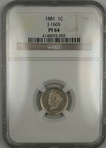 Click now to see the BUY IT NOW Price! 1881 PROOF 1C CENT PENNY PATTERN COIN J 1665 NGC PF 64 WW  LIKE LIBERTY V NICKEL