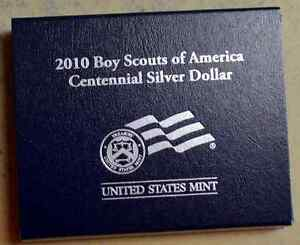 2010 BOY SCOUTS OF AMERICA CENTENNIAL UNCIRCULATED SILVER DOLLAR | 0002077|