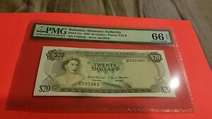 Click now to see the BUY IT NOW Price! 1968 BAHAMAS $20  HIGHEST IN PMG POPULATION REPORT. THE BEST