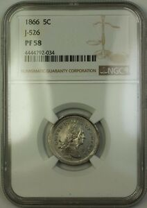 Click now to see the BUY IT NOW Price! 1866 NICKEL PATTERN 5C COIN NGC PF 58  PRIVATE RESTRIKE  J 526 JUDD WW