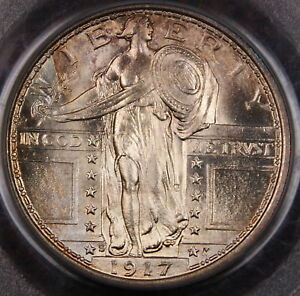 Click now to see the BUY IT NOW Price! 1917 S STANDING LIBERTY QUARTER PCGS MS 65  FH FULL HEAD TYPE 1  SUPERB GEM