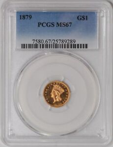 Click now to see the BUY IT NOW Price! 1879 $ GOLD INDIAN MS67 PCGS