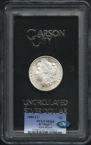 Click now to see the BUY IT NOW Price! 1880 CC MORGAN SILVER DOLLAR GSA TOP 100 VAM 5 8/7 HIGH 7 PCGS MS 66 CAC  148502