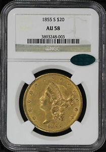 Click now to see the BUY IT NOW Price! 1855 S DOUBLE EAGLE TYPE 1 $20 GOLD LIBERTY NGC AU 58 CAC  125934