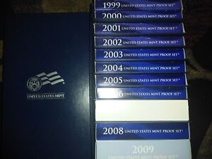 Click now to see the BUY IT NOW Price! UNITED STATES MINT PROOF SET 1999 2009 EXCELLENT CONDITION