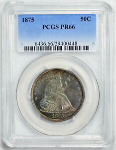 Click now to see the BUY IT NOW Price! 1875 LIBERTY SEATED 50C PCGS PR 66