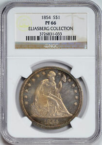 Click now to see the BUY IT NOW Price! 1854 LIBERTY SEATED S$1 NGC PR 66