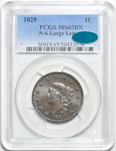 Click now to see the BUY IT NOW Price! 1829 CORONET HEAD 1C PCGS MS 65 BN