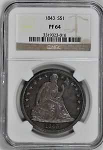 Click now to see the BUY IT NOW Price! 1843 LIBERTY SEATED S$1 NGC PR 64