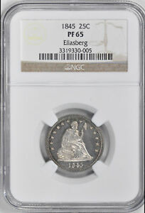 Click now to see the BUY IT NOW Price! 1845 LIBERTY SEATED 25C NGC PR 65