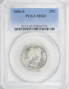 Click now to see the BUY IT NOW Price! 1896 S BARBER 25C PCGS MS 65