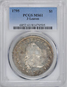 Click now to see the BUY IT NOW Price! 1795 FLOWING HAIR S$1 PCGS MS 61