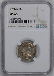 Click now to see the BUY IT NOW Price! 1926 S BUFFALO 5C NGC MS 65
