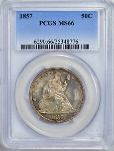 Click now to see the BUY IT NOW Price! 1857 LIBERTY SEATED 50C PCGS MS 66