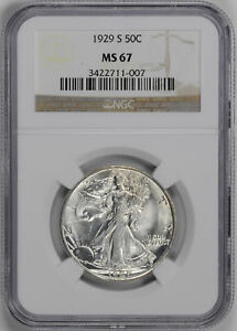 Click now to see the BUY IT NOW Price! 1929 S WALKING LIBERTY 50C NGC MS 67