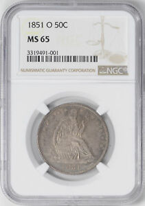 Click now to see the BUY IT NOW Price! 1851 O LIBERTY SEATED 50C NGC MS 65