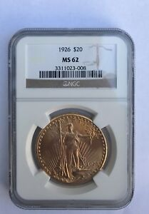 1926 $20 NGC MS62 GOLD DOUBLE EAGLE SAINT GAUDENS COIN 3311023 008