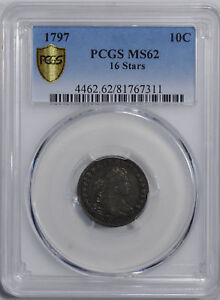 Click now to see the BUY IT NOW Price! 1797 DRAPED BUST 10C PCGS MS 62
