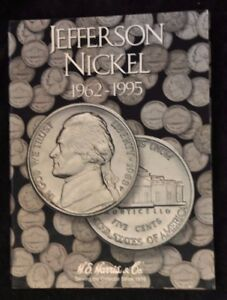 1962 1995 JEFFERSON 5C SET WITH BOOK ONLY MISSING 2 COINS IT IS NEARLY COMPLETE.