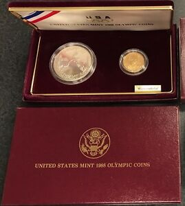 Click now to see the BUY IT NOW Price! UNITED STATES MINT 1988 OLYMPIC COINS/ COMMEMORATIVE PROOF SET  C 182