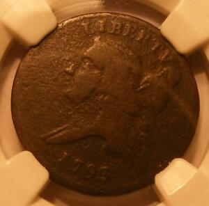1793 HALF CENT NGC VF DETAILS CORROSION   NICE BROWN COLOR