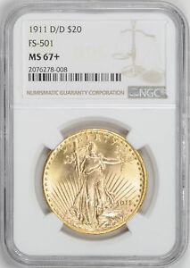 Click now to see the BUY IT NOW Price! 1911 D ST. GAUDENS $20 NGC MS 67