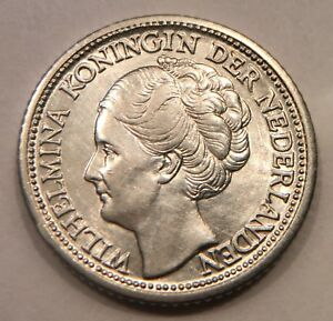 Click now to see the BUY IT NOW Price! 1944 CURACAO 1/4 GULDEN. SILVER. KINGDOM OF THE NETHERLANDS. QUEEN WILHELMINA. 2