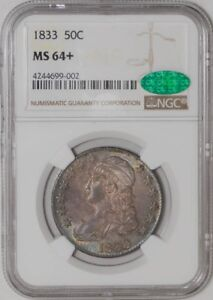 Click now to see the BUY IT NOW Price! 1833 CAPPED BUST HALF 50C MS64  NGC   CAC
