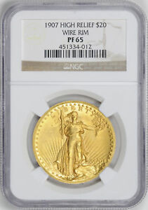 Click now to see the BUY IT NOW Price! 1907 ST. GAUDENS HI RELIEF $20 NGC PR 65