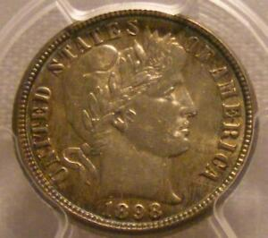 Click now to see the BUY IT NOW Price! UNCIRCULATED 1898 O BARBER DIME PCGS MS 64