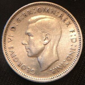 Click now to see the BUY IT NOW Price! 1938 AUSTRALIA SIXPENCE. SILVER. KING GEORGE VI. KM 39. NICE AU