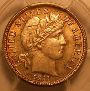 Click now to see the BUY IT NOW Price! UNCIRCULATED 1911 D BARBER DIME PCGS MS 64
