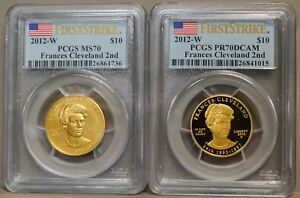 Click now to see the BUY IT NOW Price! 2012 W $10 FRANCES CLEVELAND 2ND 2PC. SET MS70 PR70 DCAM FIRST STRIKE PCGS