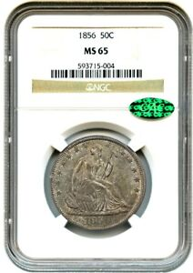 Click now to see the BUY IT NOW Price! 1856 50C NGC/CAC MS65   PRETTY TONING   LIBERTY SEATED HALF DOLLAR