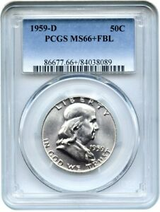 Click now to see the BUY IT NOW Price! 1959 D 50C PCGS MS66  FBL   FRANKLIN HALF DOLLAR