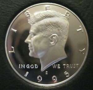 1995 S SILVER CAMEO PROOF KENNEDY HALF DOLLAR YOU WILL RECEIVE THE COIN SHOWN