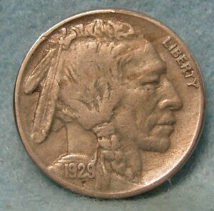 1929 S BUFFALO NICKEL XF    US COIN 1828