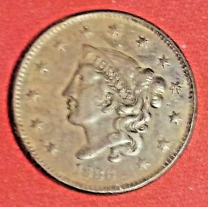 BEAUTIFUL A/U 1836 LARGE CENT