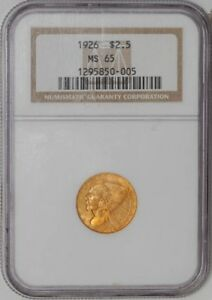 1926 $2 1/2 GOLD INDIAN 1295850 005 MS65 NGC