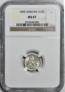 Click now to see the BUY IT NOW Price! 1855 LIBERTY SEATED H10C NGC MS 67