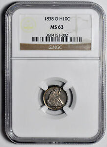 Click now to see the BUY IT NOW Price! 1838 O LIBERTY SEATED H10C NGC MS 63