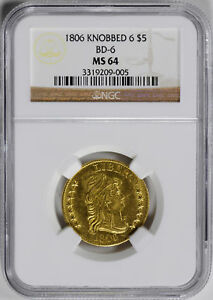 Click now to see the BUY IT NOW Price! 1806 DRAPED BUST $5 NGC MS 64