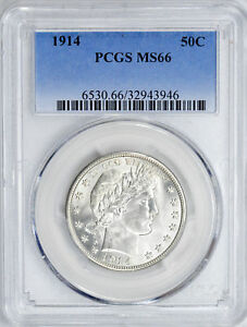 Click now to see the BUY IT NOW Price! 1914 BARBER 50C PCGS MS 66
