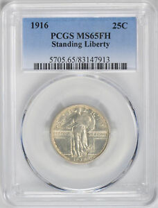 Click now to see the BUY IT NOW Price! 1916 STANDING LIBERTY 25C PCGS MS 65 FH