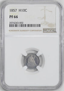 Click now to see the BUY IT NOW Price! 1857 LIBERTY SEATED H10C NGC PR 66