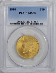 1910 INDIAN $10 PCGS MS 65
