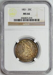 Click now to see the BUY IT NOW Price! 1821 CAPPED BUST 25C NGC MS 66