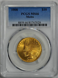 Click now to see the BUY IT NOW Price! 1908 INDIAN $10 PCGS MS 66