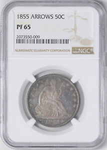Click now to see the BUY IT NOW Price! 1855 LIBERTY SEATED 50C NGC PR 65
